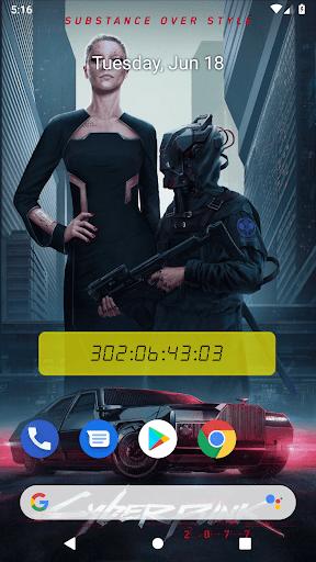 unofficial cyberpunk 2077 countdown live wallpaper screenshot 3
