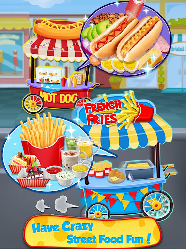 Street Food  - Make Hot Dog & French Fries screenshots 7