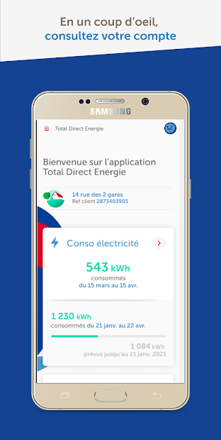 Total Direct Energie Android App Screenshot