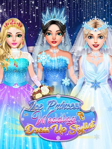 Ice Princess Wedding Dress Up Stylist 0.8 screenshots 1