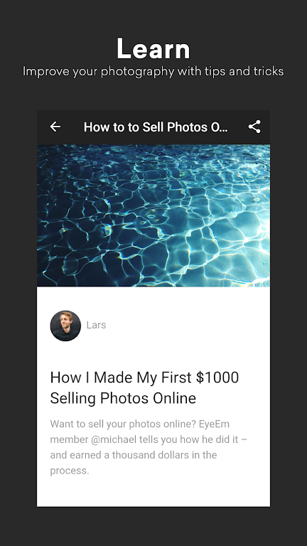 EyeEm: Free Photo App For Sharing & Selling Images  poster 4