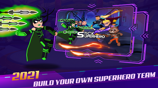 Stickman Super Heroes - Stick Battle Arena Fight screenshots 11
