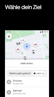 Uber - Eine Fahrt bestellen Screenshot