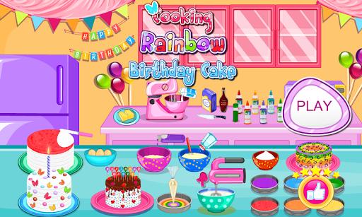 Cooking Rainbow Birthday Cake 4.0.646 screenshots 9