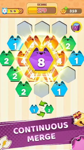 Cat Cell Connect - Merge Number Hexa Blocks 1.3.4 screenshots 3