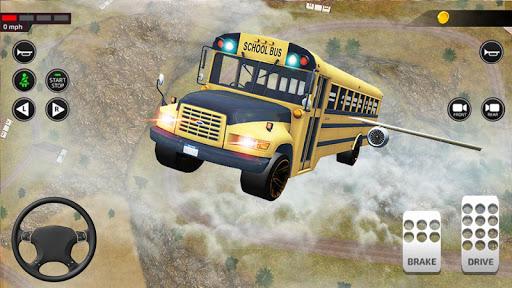Offroad School Bus Driving: Flying Bus Games 2020 apkslow screenshots 23