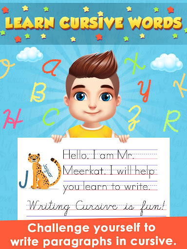 Kids Learn Cursive Writing - Cursive For Toddlers apkpoly screenshots 4