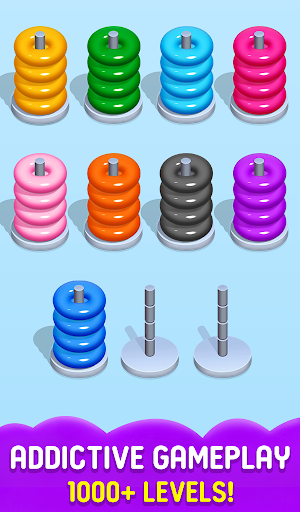 Stack Sort Puzzle - Color Sort - Hoop Sort Stack Apkfinish screenshots 4