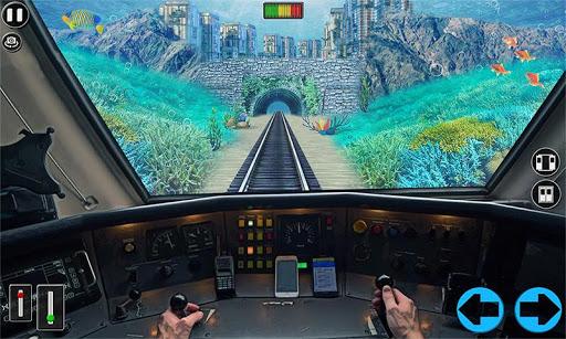 Underwater Bullet Train Simulator : Train Games screenshots 2