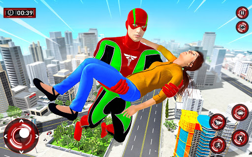 Superhero Light Robot Rescue: Speed Hero Games  Screenshots 11