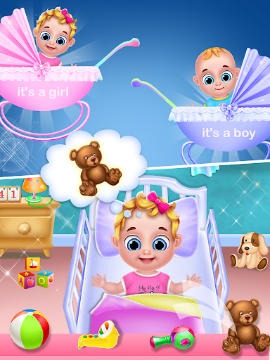 Mom & newborn babyshower - Babysitter Game  screenshots 3