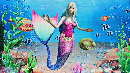 Mermaid Simulator 3D - Sea Animal Attack Games  screenshots 3