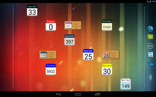 Days  Left (countdown timer) 2.2.1 Screenshots 7
