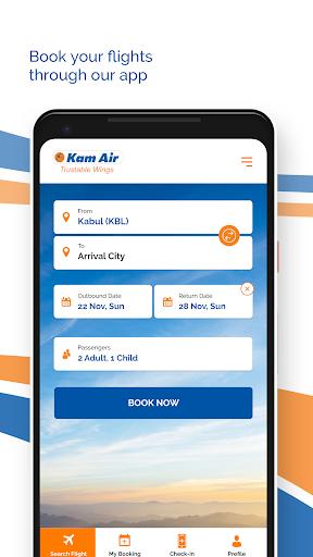 kam air trustable wings screenshot 3