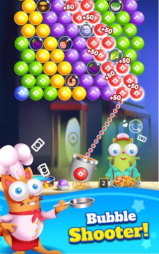 Kitten Games - Bubble Shooter Cooking Game apkmr screenshots 17