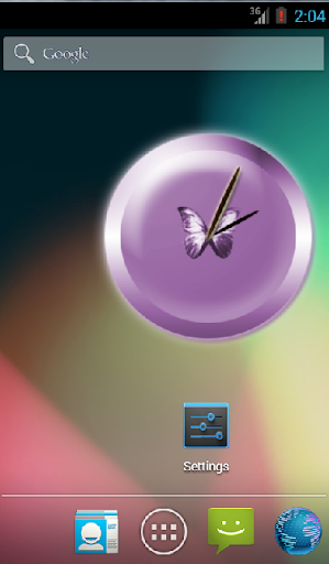 Soft Butterfly Clock Widget For PC Windows (7, 8, 10, 10X) & Mac Computer Image Number- 5