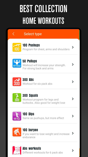 Home workouts BeStronger Fitness and streetworkout 2.4.2 screenshots 1