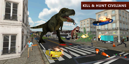 Dinosaur Simulator City Attack apkpoly screenshots 5