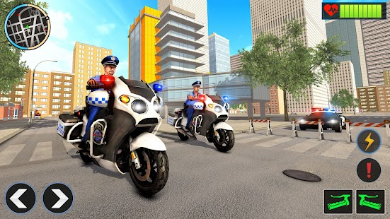 Police Moto Bike Chase Crime Shooting Games Screenshot