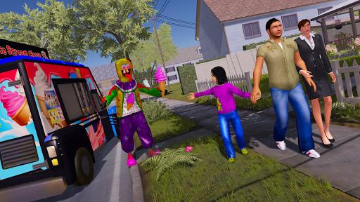 Crazy Ice Scream Clown:Freaky Clown Horor Neighbor  screenshots 4