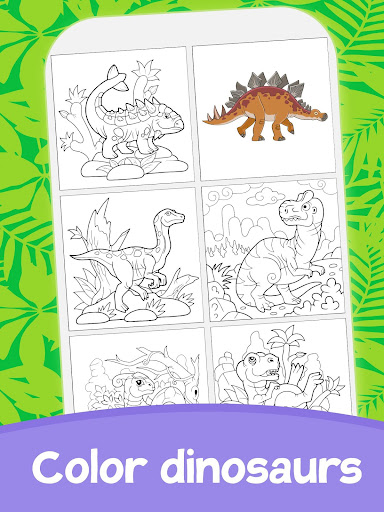 Cute Animated Dinosaur Coloring Pages 4.4 screenshots 8