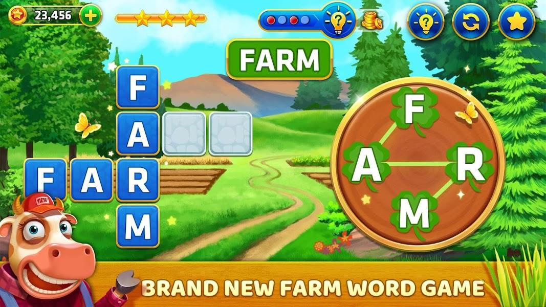 Word Farm - Farming Home Build Cross Word games