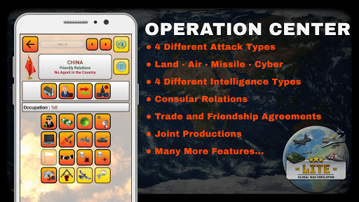 global war simulation lite - strategy war game screenshot 2