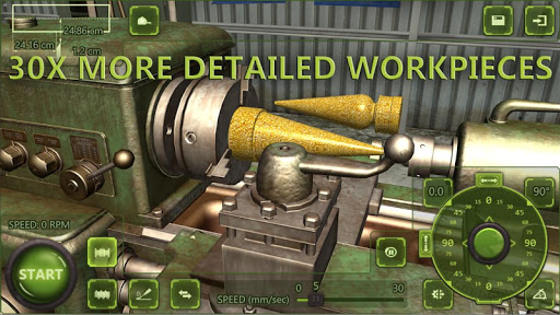 Lathe Machine 3D: Milling & Turning Simulator Game screenshots 2