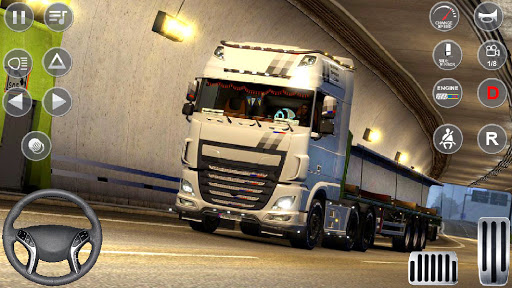 Euro Truck Driving Simulator 3D - Free Game apkpoly screenshots 9