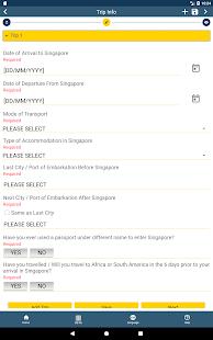 SG Arrival Card