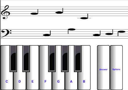 (light) learn sight read music notes piano tutor 7.0.3 Screenshots 2