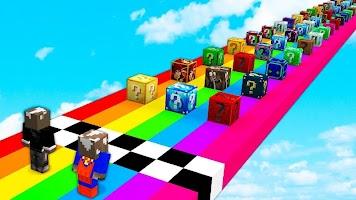 Lucky Block Race for Minecraft Pe (MCPE)