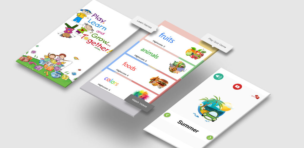 Kids Learning Food Animal Color Season Names Android Apps Appagg
