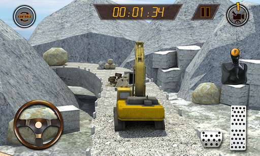 Hill Excavator Mining Truck Construction Simulator screenshots 4