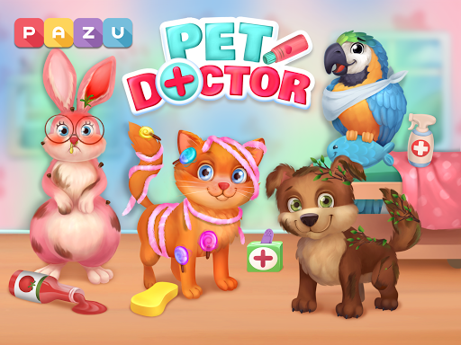 Pet Doctor - Animal care games for kids Apkfinish screenshots 5