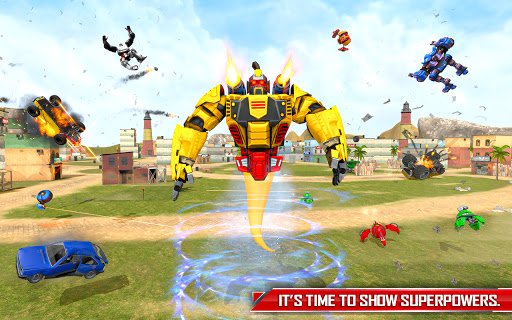 Flying Ghost Robot Car Game apkpoly screenshots 14