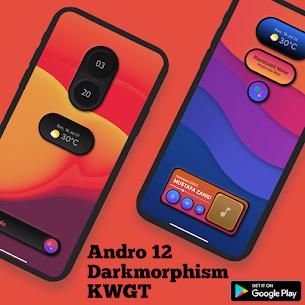 Andro 12 Darkmorphism KWGT Apk [PAID] Download 7