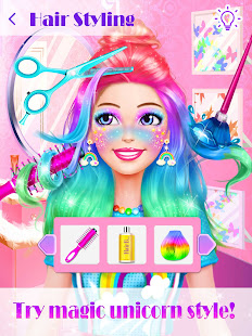 unicorn makeup dress up artist hack