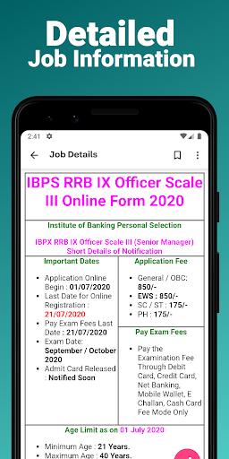 Sarkari Jobs App, Sarkari Result, Naukri App 2021 android2mod screenshots 3