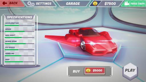 Futuristic Flying Car Racer screenshots 5