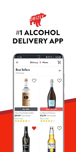 Drizly: Alcohol delivery. Order Wine Beer & Liquor 4.16.2 Screenshots 1