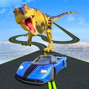 Dinosaur Car Chase Ramp Stunts