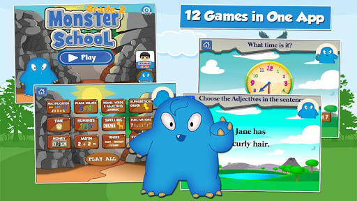 Monster Kid 2nd Grade Games 3.16 screenshots 1
