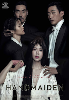 """alt=""""Set in the 1930's in South Korea and Japan. Story revolves around 4 people: a noble lady (Kim Min-Hee) who has inherited a fortune, a swindler count (Ha Jung-Woo) who is after the noble lady's fortune, a young female pickpocket (Kim Tae-Ri) hired by the swindler count and the noble lady's uncle (Cho Jin-Woong) who is her guardian. CAST AND CREDITS Actors Min-hee Kim, Jung-woo Ha, Jin-woong Cho Director Chan-Wook Park"""""""