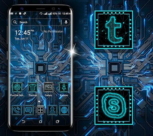 hi-tech circuit launcher theme screenshot 1