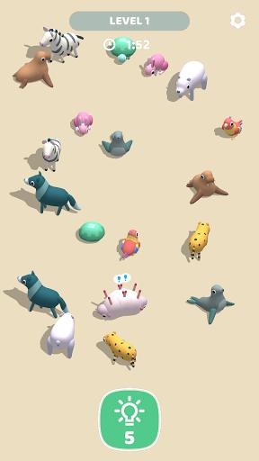 Animal Match 3D: Rolling Animals Solitaire Match  screenshots 1