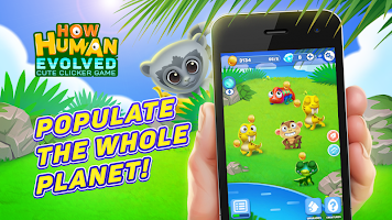 How human evolved: cute clicker game