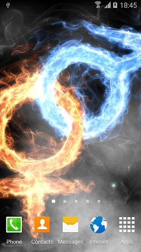fire & ice live wallpaper screenshot 1