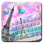 Pink Paris Eiffel Tower love Keyboard