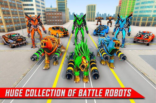 Lion Robot Car Transforming Games: Robot Shooting 1.8 Screenshots 1